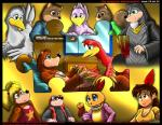 2014 after_sex anthro avian banjo-kazooie banjo_(banjo-kazooie) beak bear bed bird blue_eyes bottles_(banjo-kazooie) breasts breegull brown_eyes cleavage clothed clothing comic cub cuddling dialogue dresser english_text eyewear feathers female goggles green_eyes group hair hand_holding human inside kazooie kitsune_youkai male mammal melee_weapon mirror mole necklace nightshirt nude pigtails pillow pink_eyes polearm ponytail porcupine promise puzzle red_eyes robe rodent simple_background skull smile squirrel staff tears text twilightstormshi vest weapon young  Rating: Safe Score: 19 User: TwilightStormshi Date: August 27, 2014