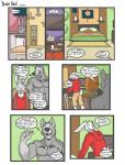 alabaster_tablespoon alvcard canine clothed clothing comic duo half-dressed lagomorph male mammal muscles rabbit topless   Rating: Safe  Score: 3  User: Pokelova  Date: March 28, 2015