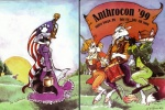 1999 anthro anthrocon apron avian basket bird bonnet bow buttons canine cannon caprine clothing cloven_hooves con_book cover cuff_links dress drum drumsticks eagle equine eyes_closed female fife flag flagpole fox furry_convention goat grass green_eyes group hooves horn lacing looking_at_viewer male mammal marching musical_instrument pawprint picnic raccoon ranged_weapon ruffles signature solo spool sun tassels thread tree unicorn vest vicki_wyman weapon  Rating: Safe Score: 6 User: OverNinerTripleZero Date: July 23, 2013