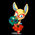 animal_crossing blue_eyes bouquet female flower lagomorph looking_at_viewer lustrous-dreams mammal mask mira_(animal_crossing) nintendo rabbit video_games   Rating: Safe  Score: 3  User: Juni221  Date: March 08, 2014