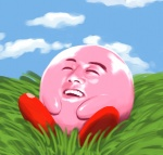 agedama ambiguous_gender cloud eyes_closed grass human kirby kirby_(series) nightmare_fuel reaction_image sitting sky smile solo unknown_species what   Rating: Safe  Score: 18  User: slyroon  Date: March 30, 2013