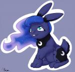 2015 alasou cute female feral friendship_is_magic lagomorph mammal my_little_pony princess_luna_(mlp) rabbit solo  Rating: Safe Score: 10 User: Robinebra Date: September 28, 2015