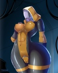 abs alien areola big_breasts breasts camel_toe erect_nipples female mass_effect nipples pussy quarian teqa tight_clothing   Rating: Explicit  Score: 21  User: Robinebra  Date: June 04, 2013