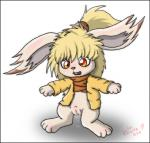 blonde_hair bottomless clothed clothing cum female hair half-dressed lagomorph mammal orange_eyes pussy pussy_juice rabbit route9 solo surprise   Rating: Explicit  Score: 4  User: CoffeeFly  Date: March 05, 2014