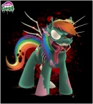 blood bone creepy crimason-mane equine female feral friendship_is_magic gore mammal my_little_pony nightmare_fuel pegasus rainbow_dash_(mlp) solo tongue undead wings worm zombie   Rating: Questionable  Score: -1  User: Sods  Date: May 31, 2013
