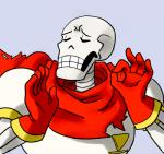 5_fingers animated_skeleton bone clothing eyes_closed gloves grey_background humanoid humor just_right low_res male meme not_furry ok_sign pacha_(the_emperor's_new_groove) papyrus_(undertale) reaction_image scarf simple_background skeleton solo teeth undead undertale unknown_artist video_games