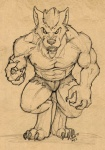angry anthro canine clothed clothing half-dressed looking_at_viewer male mammal muscles sean_o'hare shorts solo topless torn_clothing were werewolf wolf   Rating: Safe  Score: 0  User: confused  Date: March 31, 2013