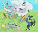 all_fours alternate_color ambiguous_gender anal bisexual blue_fur bulbasaur charmander chikorita cloud cum cyndaquil doggystyle eeveelution espeon fellatio female feral fin flareon from_behind fur grass group group_sex jolteon kissing larvitar lucario lugia male male/female male/male mew mewtwo nintendo oral orgy outside penis pokéball pokémon precum red_fur rimming sex spitroast squirtle sun tan_fur totodile umbreon vaporeon video_games yellow_fur   Rating: Explicit  Score: 8  User: Hydr0  Date: January 17, 2015