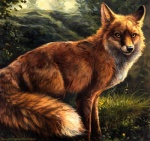 2014 ambiguous_gender black_nose canine detailed detailed_background digitigrade feral fluffy fluffy_tail fox fur grass inner_ear_fluff kenket long_mouth looking_at_viewer mammal markings nature no_sclera nude orange_fur outside painting_(artwork) poetry red_fox sly smile snout socks_(marking) solo standing traditional_media_(artwork) tree whiskers white_furRating: SafeScore: 32User: *Sellon*Date: November 16, 2014