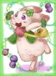 anthro berries blush chest_tuft chima clover cute eyelashes female fur happy_happy_clover japanese leaf pixiv purple_eyes sayuri_tatsuyama shamrock solo tuft 八王子おこじょ   Rating: Safe  Score: 2  User: CloverTheRabbit  Date: February 12, 2015