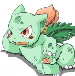 after_masturbation balls blush cum cute doneru ivysaur low_res male nintendo penis pokémon simple_background solo video_games white_background
