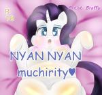 <3 anthro bed big_breasts blue_eyes blush braffy breasts cutie_mark digital_media_(artwork) equine female friendship_is_magic fur hair hi_res hooves horn long_hair looking_at_viewer lying mammal my_little_pony navel nipples open_mouth overweight purple_hair rarity_(mlp) solo text unicorn white_fur  Rating: Questionable Score: 0 User: OptimalPrime Date: January 28, 2015