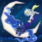 2014 astronaut blonde_hair blue_eyes blue_hair cloud crown derp_eyes derpy_hooves_(mlp) duo equine feathered_wings feathers female feral flying friendship_is_magic hair horn jewelry letter mammal moon my_little_pony necklace pegasus princess_luna_(mlp) space sparkles star swanlullaby winged_unicorn wings yellow_eyes  Rating: Safe Score: 11 User: 2DUK Date: December 09, 2014