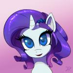 blue_eyes equine female friendship_is_magic hair hairclip horn looking_at_viewer mammal my_little_pony portrait purple_hair raikoh-illust rarity_(mlp) solo unicorn  Rating: Safe Score: 8 User: anthroking Date: December 14, 2013