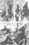 anthro anubian_jackal anubis_dark_desire canine comic egyptian female greyscale jackal male mammal monochrome straight   Rating: Questionable  Score: 2  User: DoGgY  Date: December 10, 2009