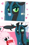 changeling comic crown embarrassed equine fan_character female fluffle_puff friendship_is_magic hair horn mammal mixermike622 my_little_pony pacifier photo queen_chrysalis_(mlp) royalty secret text wings  Rating: Safe Score: 13 User: takuto_shindou Date: July 23, 2015
