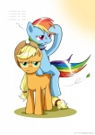 applejack_(mlp) blonde_hair blue_fur c-v-m cowboy_hat cutie_mark duo earth_pony equine female feral friendship_is_magic fur green_eyes hair hat horse looking_at_viewer mammal multicolored_hair multicolored_tail my_little_pony orange_fur pegasus pony purple_eyes rainbow_dash_(mlp) rainbow_hair rainbow_tail simple_background tumblr white_background wings  Rating: Safe Score: 11 User: Robinebra Date: May 31, 2014