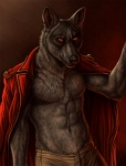 abs biceps black_nose canine clothing fur looking_at_viewer luther male muscles pants pecs pose red_eyes rukis scar solo standing topless wolf   Rating: Safe  Score: 3  User: Ferryn  Date: August 16, 2013