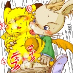 animal_genitalia anthro anthrofied balls blush bottomless clothed clothing crossover duo erection female final_fantasy from_behind_position fur interspecies japanese_text licking low_res male male/female male_penetrating mammal membranous_wings montblanc moogle nintendo nude penetration penis pikachu pokémon pokémon_(species) pokémorph pom_antenna rodent sex sheath speed_lines square_enix text tongue tongue_out unknown_artist vaginal vaginal_penetration video_games wings yellow_furRating: ExplicitScore: 1User: Kitsu~Date: July 08, 2009