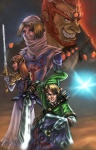 blonde_hair blue_eyes brown_hair elf fairy female ganondorf gerudo grin group hair hat hi_res humanoid hylian link long_hair male master_sword melee_weapon navi nintendo not_furry ocarina_of_time princess_zelda queen red_eyes red_hair royalty sheik shield smile sword the_legend_of_zelda triforce victor_bartlett video_games weapon