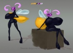 antennae arthropod balloon bee beembo big_breasts bodysuit breasts chubby clothing female high_heels huge_breasts inflatable insect lips platform_heels pose rubber sitting skinsuit vinyl wings  Rating: Questionable Score: 3 User: CarolineCoffeemugs Date: July 05, 2013