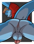 balls black_nose blue_eyes blue_fur bottomless brown_hair butt clamcrusher clothed clothing fur hair half-dressed male mammal mustelid otter penis solo  Rating: Explicit Score: 10 User: Hardstyle_Chris Date: August 26, 2015