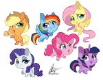 2015 applejack_(mlp) cute dennybutt earth_pony equine female feral fluttershy_(mlp) friendship_is_magic group horn horse mammal my_little_pony pegasus pinkie_pie_(mlp) pony rainbow_dash_(mlp) rarity_(mlp) twilight_sparkle_(mlp) unicorn winged_unicorn wings   Rating: Safe  Score: 14  User: Robinebra  Date: February 05, 2015