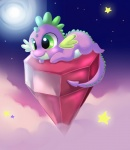 cloud cub cute dragon feral friendship_is_magic gem green_eyes jack-a-lynn male my_little_pony outside purple_scales scalie solo spike_(mlp) star young   Rating: Safe  Score: 9  User: Granberia  Date: September 08, 2012