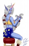 blue_skin diaper female hair horn humanoid league_of_legends long_hair plain_background solo soraka video_games white_hair  Rating: Questionable Score: -2 User: fulldiapers Date: October 12, 2014""