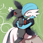 auster canine duo eeveelution fakémon fan_character female feral fur gardevoir heterochromia magicbox male mammal nintendo phanteon pokémon prima_donna red_eyes video_games