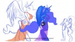anthro anthrofied big_breasts breasts cutie_mark equine female friendship_is_magic horn horse my_little_pony pony princess_celestia_(mlp) princess_luna_(mlp) smile weasselk winged_unicorn wings   Rating: Questionable  Score: 7  User: KrzykaczNerwus  Date: October 04, 2013