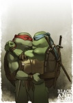 comic duo english_text eye_contact gay green_body incest leonardo_(tmnt) male raphael_(tmnt) reptile scalie shell sneefee standing sword teenage_mutant_ninja_turtles text turtle weapon   Rating: Safe  Score: 9  User: megusta  Date: July 15, 2012