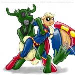 applejack_(mlp) cervine cosplay crossover digital_media_(artwork) duo fan_character female friendship_is_magic male male/female mammal marine my_little_pony orgasm pussy pussy_ejaculation pussy_juice reindeer rubber sketch smudge_proof superman supermare wrestling   Rating: Explicit  Score: 2  User: Smudge_Proof  Date: October 24, 2014