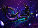 2014 anthro black_hair blue_nipples breasts dragon eliana-asato falling female fur furred_dragon glowing glowing_nipples green_eyes hair horn long_hair nipples nude planet purple_skin scalie solo space spacescape star tyre yellow_claws   Rating: Explicit  Score: 16  User: Lulana  Date: November 20, 2014