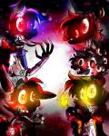 animatronic anthro caramelcraze creepy eye_patch eyewear five_nights_at_freddy's five_nights_at_freddy's_4 glowing glowing_eyes group machine nightmare_bonnie_(fnaf) nightmare_chica_(fnaf) nightmare_cupcake_(fnaf) nightmare_foxy_(fnaf) nightmare_freddy_(fnaf) robot robotic_tongue sharp_teeth teeth video_games  Rating: Safe Score: 0 User: Kario-xi Date: July 26, 2015