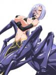 arachne arachnid arthropod big_breasts bikini breast_squish breasts cleavage clothed clothing drider elbow_gloves female gloves hair huge_breasts monster monster_girl monster_musume_no_iru_nichijou multi_limb multiple_eyes pose purple_hair rachnera_arachnera_(monster_musume) red_eyes red_sclera simple_background smile solo swimsuit tikuisi  Rating: Questionable Score: 10 User: Pasiphaë Date: August 23, 2015