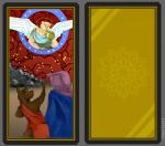 2020 angel brass_instrument card cloud digital_media_(artwork) fortune_telling group holding_object lupelongo male mammal musical_instrument outside rock simple_background sky tarot tarot_card trumpet wind_instrument wings