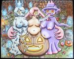 big_breasts breasts candy female food gourgeist group halloween holidays humanoid litwick looking_at_viewer mismagius mukucookie navel nintendo outside overweight pokémon pokémorph pussy tongue tongue_out traditional_media_(artwork) video_gamesRating: ExplicitScore: 3User: NeitsukeDate: October 27, 2016