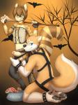 2014 akita anthro anus balls bangs bastion bat blue_eyes bowl butt canine chaps clothed clothing cody_(bastion) collar corset dog duo erection ethan_(bastion) feline fingerless_gloves food_bowl glans gloves green_eyes half-closed_eyes halloween harness hi_res holidays jeffybunny_(artist) kneeling leg_grab licking licking_lips looking_at_viewer looking_back male male/male mammal meat naughty_face nude ocelot panties panties_aside pawpads paws penis petplay polearm roleplay skimpy slim smile spiked_bracelet staff standing steak suggestive thick_penis tongue tongue_out twink uncut underwear weapon   Rating: Explicit  Score: 20  User: Jugofthat  Date: November 11, 2014