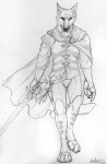 2014 anthro armor bulge canine claws cloak clothing fur klaus male mammal rukis shaded sketch solo sword weapon wolf   Rating: Safe  Score: 2  User: TheGreatWolfgang  Date: November 01, 2014