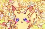 absolutely_everyone ambiguous_gender ampharos arachnid arthropod avian bell bellsprout bird blue_eyes chingling eeveelution electabuzz elekid emolga feline feral flower fur galvantula geegeet girafarig group jirachi jolteon joltik large_group legendary_pokémon looking_at_viewer mammal manectric meowth minun nintendo pichu pikachu plant plusle pokémon psyduck rodent scraggy shuckle spider sunflora sunkern uxie victreebel video_games yellow_fur yellow_theme zapdos
