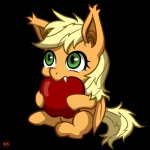 alpha_channel apple applejack_(mlp) blonde_hair cub equine fangs female feral friendship_is_magic fruit fur green_eyes hair long_hair mammal my_little_pony norang94 orange_fur pegasus plain_background sitting solo transparent_background wings young   Rating: Safe  Score: 10  User: Deatron  Date: December 30, 2013