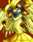 avian beak bird blue_eyes blush claws female feral nintendo open_mouth pidgeot pokémon presenting pussy shiny_pokémon smile solo spread_legs spreading talons video_games wings zephyr-owl   Rating: Explicit  Score: 5  User: voldosbt  Date: September 14, 2013