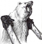 amazing ambiguous_gender angry bear bipedal black_and_white blood chainsaw eyes_closed feral front_view fur half-length_portrait low_res mammal mixed_media monochrome open_mouth pen_(artwork) plain_background roaring round_ears sketch solo standing three-quarter_view tools traditional_media_(artwork) unknown_artist watercolor_(artwork) what what_has_science_done where_is_your_god_now white_background white_fur   Rating: Safe  Score: 29  User: ktkr  Date: December 12, 2010