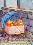 ambiguous_gender box buizel duo eeveelution flareon homeless japanese_text mammal mustelid nintendo outside pokémon raining rasuku@07_(artist) text umbrella video_games  Rating: Safe Score: 14 User: DeltaFlame Date: December 09, 2014