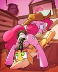 2015 anal anal_penetration anus applejack_(mlp) blonde_hair butt cowboy_hat cutie_mark duo earth_pony equine female female/female feral friendship_is_magic green_eyes hair hat hi_res horse inside kanashiipanda long_hair lying mammal misleading_thumbnail my_little_pony on_back penetration pink_hair pinkie_pie_(mlp) pony pussy tatzljack tatzlwurm tentacles tongue tongue_out vaginal vaginal_penetration   Rating: Explicit  Score: 17  User: lemongrab  Date: May 01, 2015
