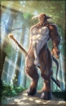 2011 abs balls biceps big_muscles bovine brown_fur cattle corvuspointer crepuscular_rays flaccid frown fur hooves horn leather looking_at_viewer male mammal muscles nature necklace nipples nude outside pecs penis polearm solo staff tree tribal weapon white_fur   Rating: Explicit  Score: 9  User: Der_Traubenfuchs  Date: December 29, 2012