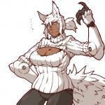 ... 2015 animal_humanoid big_breasts breasts brown_skin canine claws clothing cybernetics cyborg dantera_rina(hutago) face_paint hair humanoid hutago machine mammal scar simple_background solo standing sweat wolf wolf_humanoidRating: SafeScore: 2User: slyroonDate: May 24, 2017