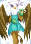 """2015 anthro avian cute female food friendship_is_magic gilda_(mlp) gryphon mittens my_little_pony solo vavacung  Rating: Safe Score: 6 User: Robinebra Date: June 20, 2015"""""""