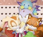 blaze_the_cat cat cream_the_rabbit feline hug lagomorph mammal marine_the_raccoon rabbit raccoon sega sonic_(series)   Rating: Safe  Score: 3  User: RadDudesman  Date: February 05, 2014